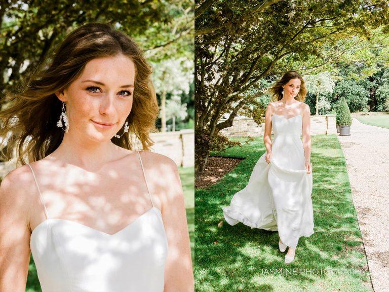 """""""elegant bride in walled garden"""""""
